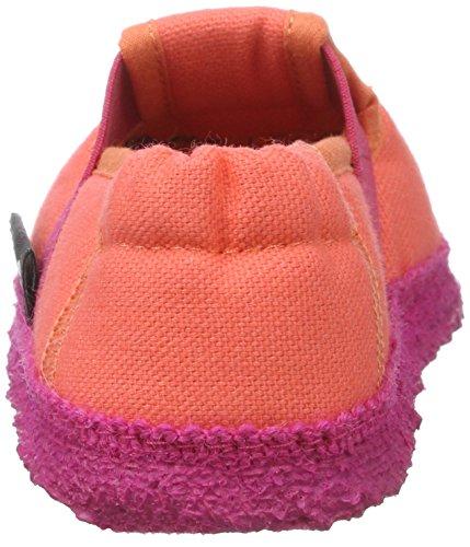 Nanga Blumenwiese, chaussons d'intérieur fille Rose fuchsia