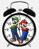Black Alarm Clock Super Mario Luigi Alarm Schreibtisch Uhr 10.16 cm Room Decor X35 wird ein schönes Geschenk