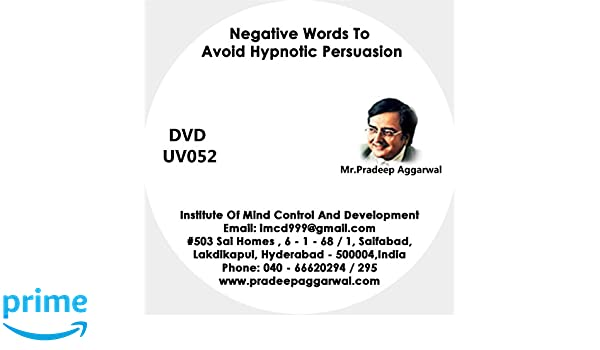 Amazon in: Buy Negative Words To Avoid Hypnotic Persuasion