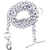 PSK PET MART PSK Dog Chain Silver Grind No.8 (L - 60inch) for Large Dogs