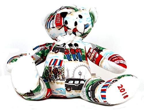 Gestickt Interlock (Cath Kidston Baby Teddybär in London Streets, elfenbeinfarben/cremefarben)