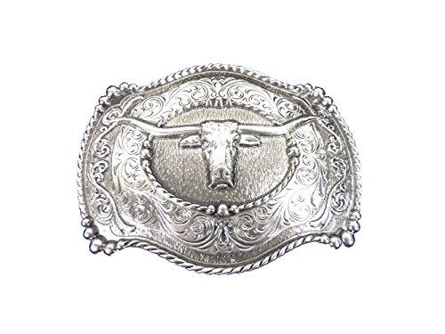 Stetson Westerngürtelschnalle Steer in einer attraktiven Präsentationsbox Gürtelschnalle Gürtelschließe Western Belt Buckle Westerngürtelschnalle Rodeo Vintage Silber -