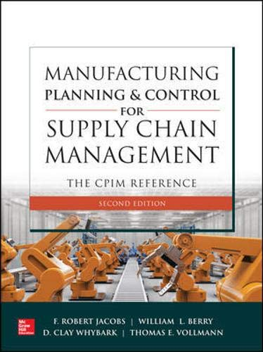 Manufacturing Planning and Control for Supply Chain Management: The CPIM Reference, Second Edition - Civil Management Engineering
