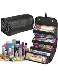 Kitchen Point Roll N Go Travel Buddy Toiletry Pouch Hanging Organiser | Cosmetic Pouch Organiser Bag | Makeup...
