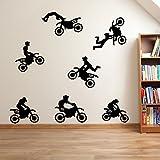 Wandaufkleber, Motiv: Motorräder/Motocross, Fenster-Aufkleber Aufkleber Wand-Aufkleber Aufkleber...