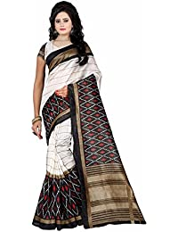 Devpriya Fashion Women's Clothing Saree For Women Latest Design Wear Sarees New Collection In White Coloured BHAGALPURI...