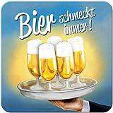 Nostalgic-Art 46132 Bier und Spirituosen schmeckt immer Tablett, Untersetzer
