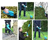Good Ideas Multi Function 6in1 Cordless Adjustable Hedge Trimmer, Cutting Shears, Grass Trimmer, Leaf Blower / Vacuum, Hand Held Trimmer and Cutter.