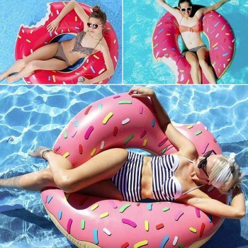 DESIGN FREUNDE Pool Spielzeug Pool Gummitier Schwimmring Tier Poolbeachwear Poolzubehör Donut Beachwear - Schwimmdonut