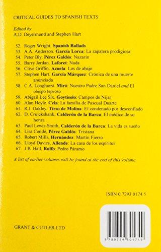 El coronel no tiene quien le escriba (Critical Guides to Spanish Texts)