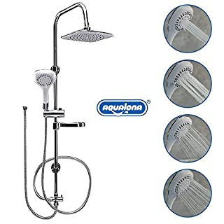 AQUALONA Aquacapri Spa Shower Column Rigid Riser Kit Chrome Bathroom Showeroom