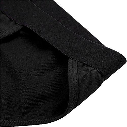 Tanga Slips Herren, Sondereu G Strings Baumwolle Unterhose Bequeme Unterwäsche Bikini Lingerie 2er Pack 2 schwarze