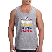 Green Turtle T-Shirts Camiseta de Tirantes Hombre - Vamos Colombia! Apoya a la