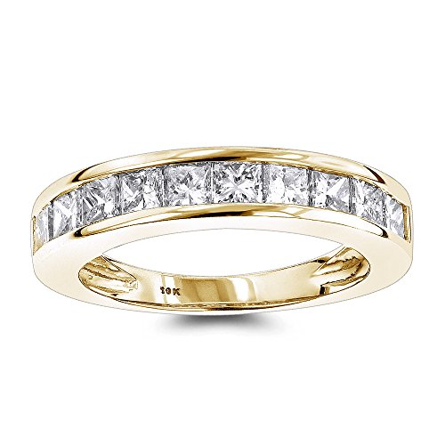 luxurman-thin-1-row-princess-cut-diamond-wedding-band-10k-yellow-gold-size-85
