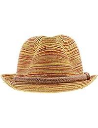 Y-BOA Chapeau de Paille Fedora Trilby Panama Soleil Plage Eté Adulte/Enfant