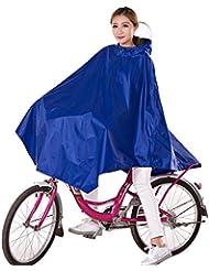 Poncho de Pluie Vélo Femme par Hiveseen, Cape de Protection Pluie Imperméable avec Capuche, Veste Respirante Over Genou et Coupe Vent, Vetement Légère Pour Faire du Vélo, Cycliste