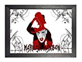 ula bear posters Marilyn Manson 30 A4 gerahmtes Poster Brian Hugh Warner Rock Metal Folk Blues Rock and Roll Album Cover Design Musik Band Beste Foto Bild Einzigartiger Druck