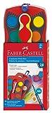 Faber-Castell 125029 - Farbkasten Connector mit 24 Farben, inklusive Clic and Go Pinsel, Größe 4