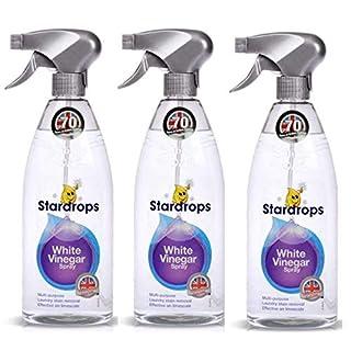 Stardrops White Vinegar Multi Surface Cleaner 750ml Spray {1,3 & 6 Bottles}. UKB (3 Bottles)