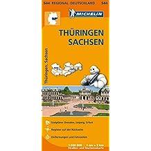 Michelin Thüringen, Sachsen: Straßen- und Tourismuskarte 1:300.000 (MICHELIN Regionalkarten)