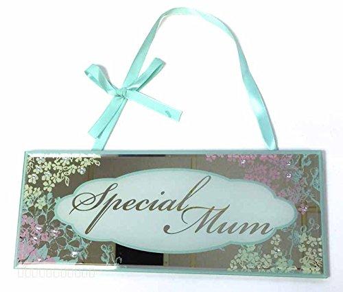 Geschenk für Mama verspiegelt Plaque Silber Presents Ideen Mum Mother 's Day Birthday