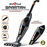 ResQTech India Pvt Ltd Spartan Cordless 12000 PA Ultra Powerful 2 in 1 Vacuum Cleaner with Rechargeable Lithium-Ion Battery and LED Brush (Black)