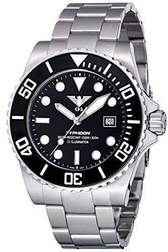 KHS Diver's Wristwatch Typhoon Steel TYS.SSTY