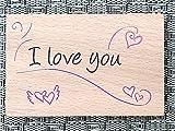 Poesiestempel BRUNNEN RVS 6x9cm Motivstempel : I love you