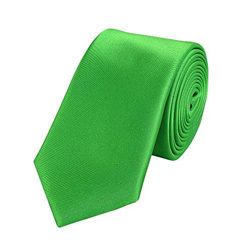 Fabio Farini Edle Krawatte, 6 cm in verschiedenen Farben, Apfel-Grün