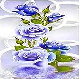 Mode Elegante Blumen 5D Diamant Stickerei DIY Handwerk Malerei Kreuzstich Mosaik Wohnkultur Diamant Bild Zeichnung Craft Wall Decor Für Wohnzimmer 15 x 35 cm