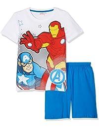 Avengers Assemble Garçon Pyjama court - blanc