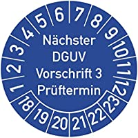 JJ Jahrespr/üfplakette Zeitraum 2021 Vinylfolie signalgelb /Ø 15 mm Aufdruck schwarz Labelident Pr/üfplaketten Jahreszahl Monate 1000 St/ück