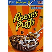 Reeses Peanut Butter Puffs Cereal, 13-Ounce Boxes (Pack of 2)
