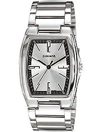 Sonata Analog Silver Dial Men's Watch - 7998SM02A