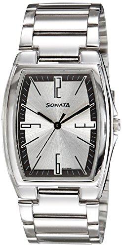 51KQzRBHIrL - Sonata 7998SM02A Silver Mens watch