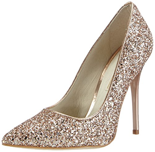 Buffalo London11335-269 GLITTER - Decolleté chiuse Donna , Beige (Beige (SALMON 01)), 38