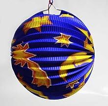 HAAC farolillo multicolor con diseño de luna y estrella para montaje estábamosbajo cosa de 22,5 cm