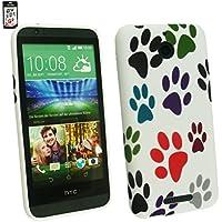 Emartbuy® HTC Desire 510 Sim Gel Hülle Schutzhülle Case Cover Pfoten