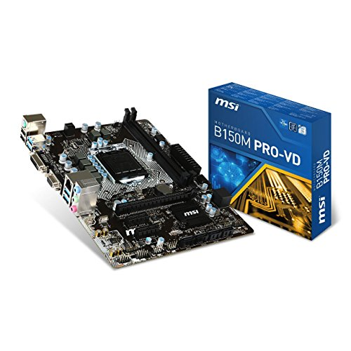 MSI B150M Pro-Vd - Placa Base (zócalo LGA 1151, DDR4-2133, USB 3.1, SATA 6 GB/s)