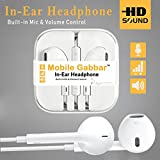 #7: Mobile Gabbar Headphones With Mic For iPhone, Apple, iPhone 4 / 4s / 5 / 5s / 6 / 6s iPad With 3.5mm Jack With Mic And Volume Button Earphone With Mic