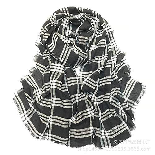HNLYYL Nuovo Scialle Caldo In Cotone E Lino Sciarpa Femminile Fresco Scialle Sciarpa Letteraria Doppio Scopo