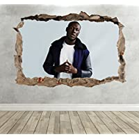 3D Stormzy Smashed Breakout Wall Sticker Boys Bedroom Grime Decal Poster - Extra Large Landscape 100cm (w) X 70cm (h) preiswert