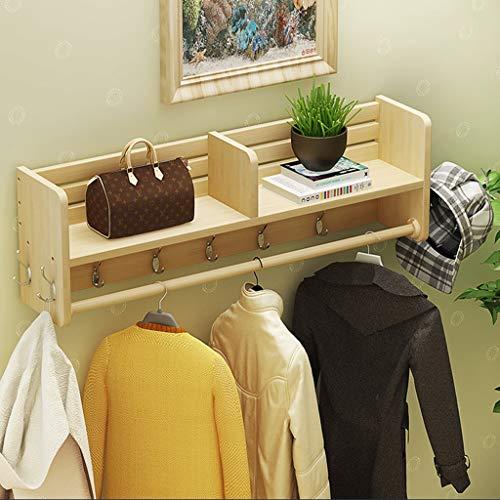 Porte-manteau Porte-manteaux Porte-crémaillère Porte-vêtements Porte-manteaux Présentoir pour vêtements blancs Présentoir mural en bois (taille : 100cm)