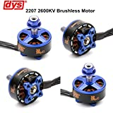 4pcs DYS Brushless Motor 2207 2600KV 3-4S for RC Drone FPV Racing ( Samguk Series Wei )