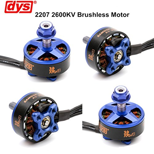 4pcs DYS Brushless Motor 2207 2600KV 3-4 S für RC Drone FPV Racing (Samguk Serie Wei) (Motor 2206)