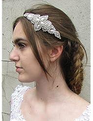 Starcrossed Beauty Great Gatsby Flapper Brautschmuck Haarband B25Stil der Zwanzigerjahre