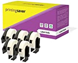 5 Rollen DK11204 DK-11204 17mm x 54mm Mehrzweck-Etiketten kompatibel für Brother P-Touch QL-500 QL-550 QL-560 QL-570 QL-580N QL-650TD QL-700 QL-720NW QL-1050 QL-1060N (400 Etiketten pro Rolle)