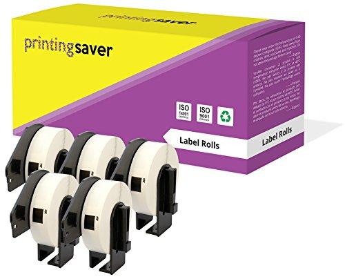 5 Compatibles Rollos DK11204 DK 11204 17mm x 54mm