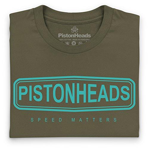PistonHeads Speed Lozenge Logo T-Shirt, Herren Olivgrn