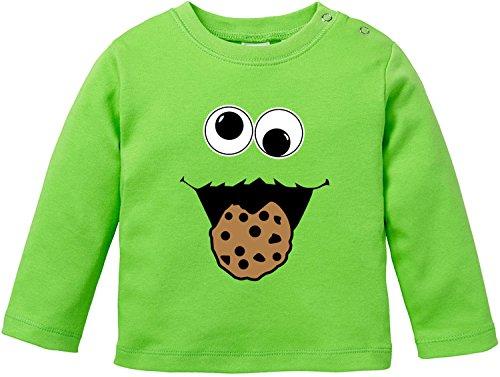 ter Baby T-Shirt Longsleeve Bio Baumwolle (Baby Monster Baby Grün Kostüme)